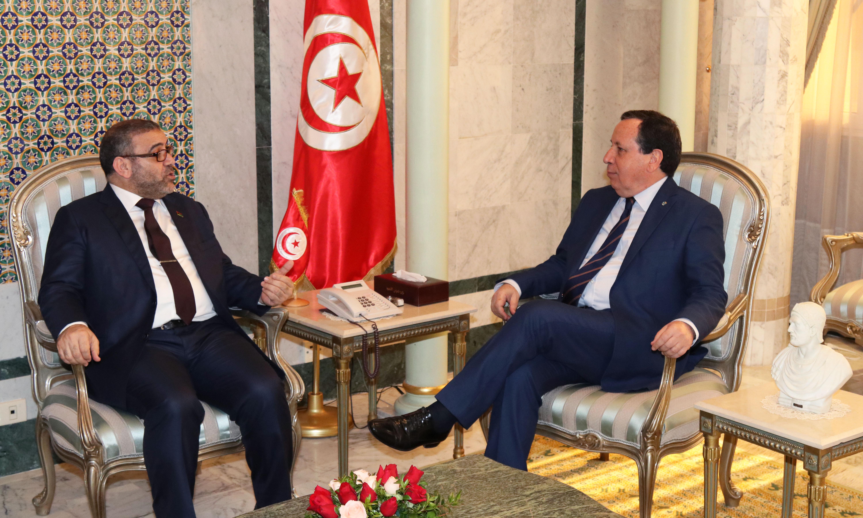 مستجدات الوضع في ليبيا محور لقاء وزير الخارجية برئيس المجلس الأعلى للدولة في ليبيا:
