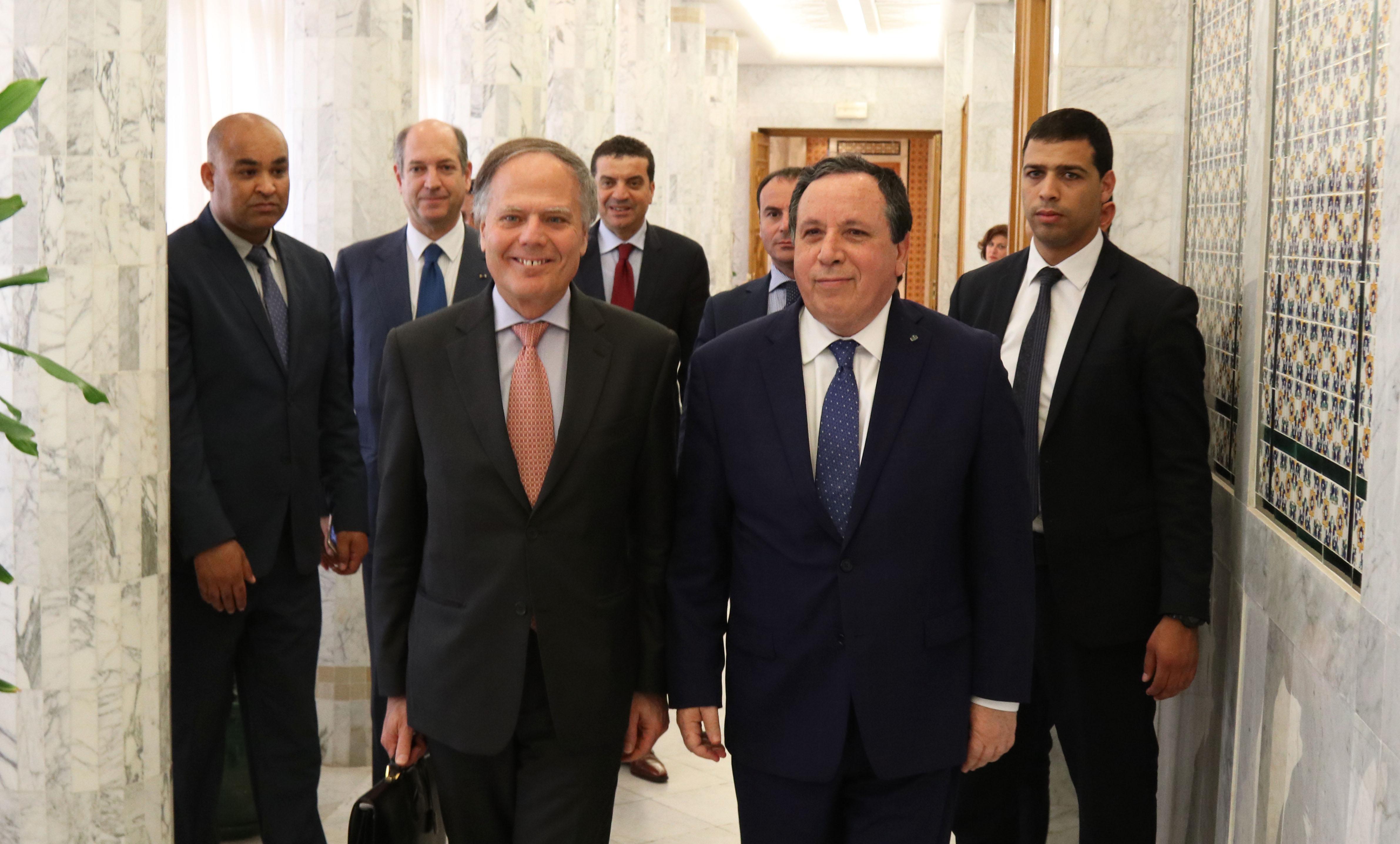 ملفات التعاون الثنائي والأزمة في ليبيا محور  جلسة مشتركة بين وزيري خارجية تونس وإيطاليا: