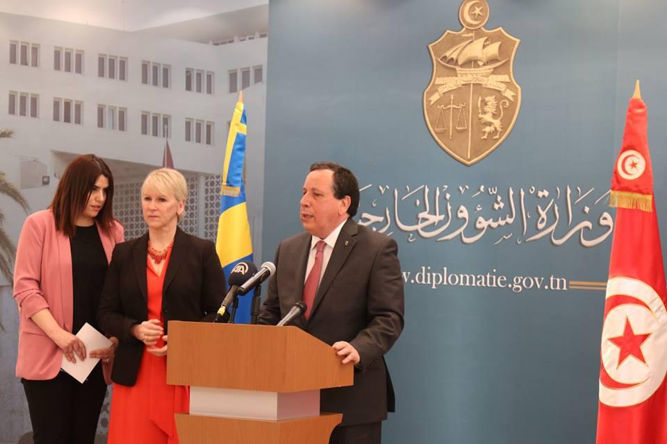 وزير الخارجية يشرف ونظيرته السويدية على أشغال الدورة الثانية من المشاورات السياسية بين تونس والسويد: