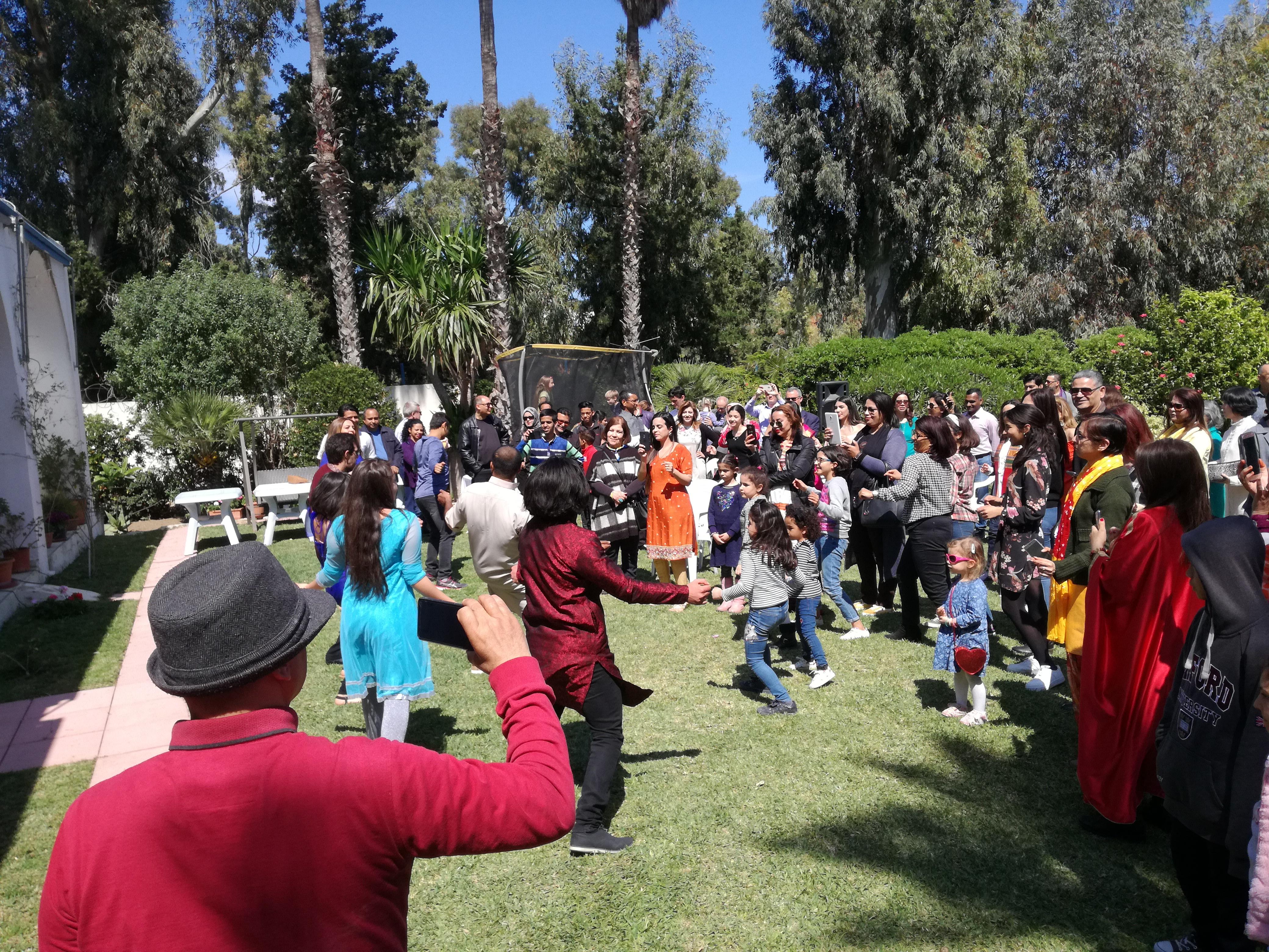 """سفارة الهند بتونس تحتفل بعيد الربيع الهندي """"HOLI"""":"""