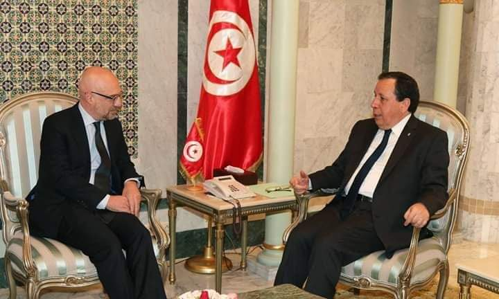 وزير الشؤون الخارجية يلتقي سفير إيطاليا بتونس: