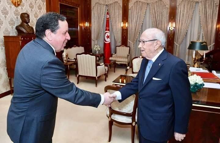"""رئيس الجمهورية يستقبل وزير الشؤون الخارجية """"خميس الجهيناوي"""":"""
