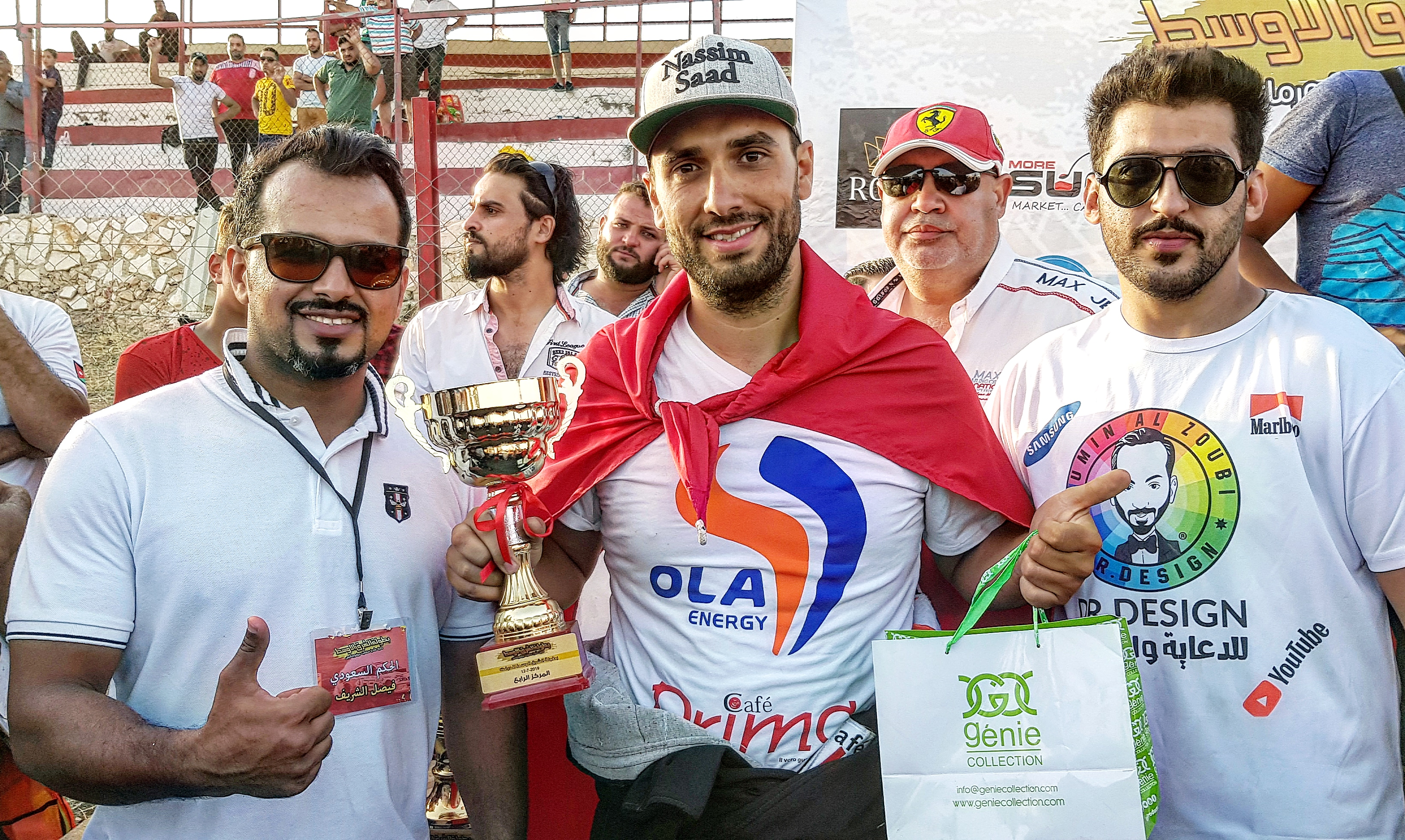 """نسيم سعد يفوز بكأس المرتبة الرّابعة """"عربيّا""""في بطولة الشّرق الأوسط للدّرفت:"""