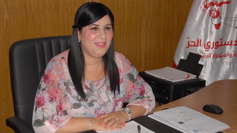 """""""عبير موسي"""" على رأس قائمة تونس 2 للحزب الدستوري الحر:"""