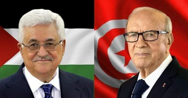 رئيس الجمهورية يتلقى اتصالا هاتفيا من رئيس دولة فلسطين: