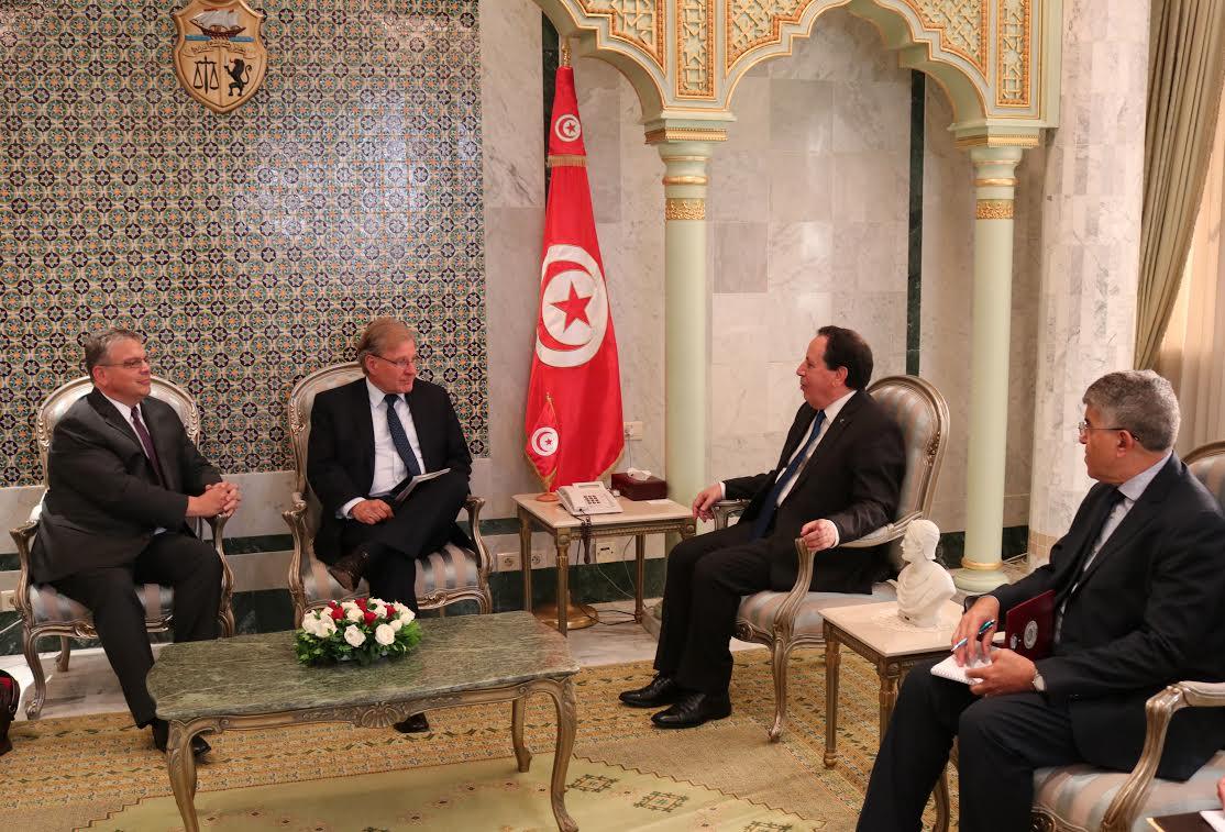 وزير الشؤون  الخارجية يتحادث مع  سفيري الولايات المتحدة الأمريكية بليبيا وتونس: