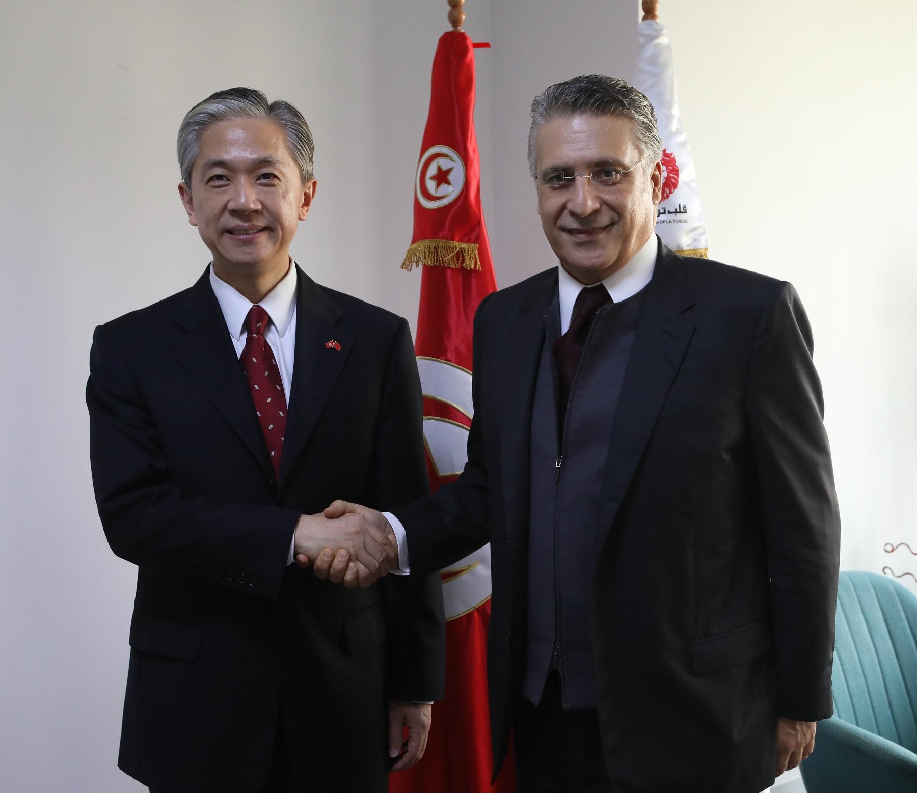 نبيل القروي يستقبل سفير جمهورية الصين الشعبية:
