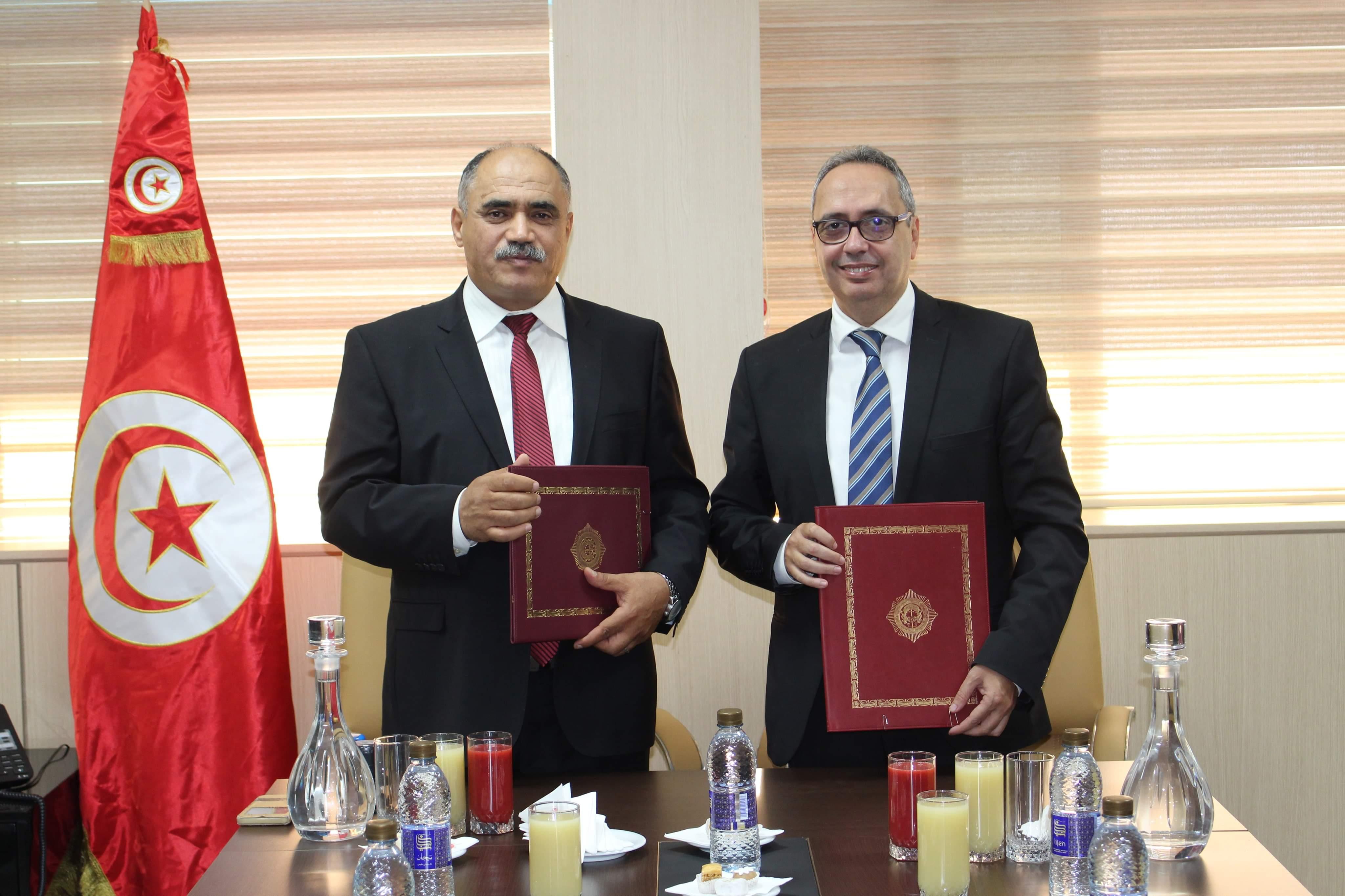 توقيع إعلان مشترك بين وزارة العدل والهيئة الوطنية للوقاية من التعذيب حول تجميع النصوص المنظمة للسجون في تونس و إعداد دليل السجين: