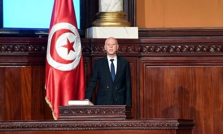 """الرئيس المنتخب """"قيس سعيد"""" يؤدي اليمين الدستورية بحضور شخصيات رفيعة المستوى:"""