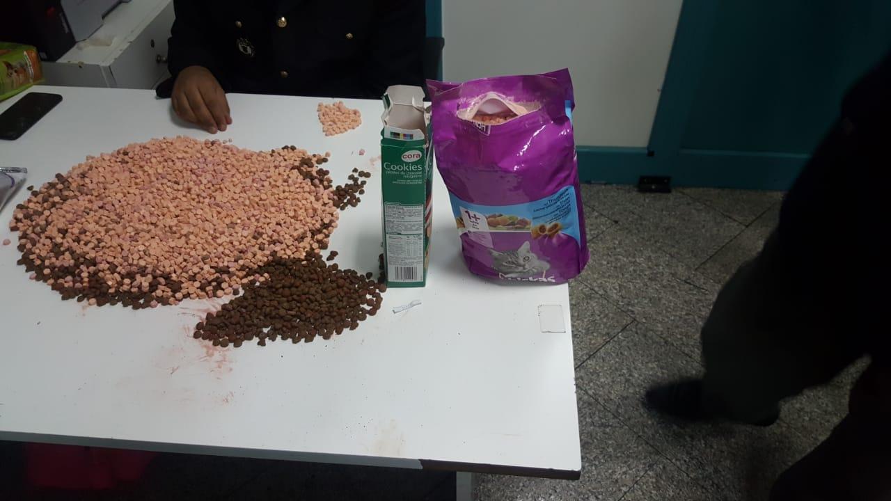الفريق المشترك للتفتيش الأمني بمطار تونس قرطاج يحجز 14741 من الحبوب المخدرة نوع إكستازي: