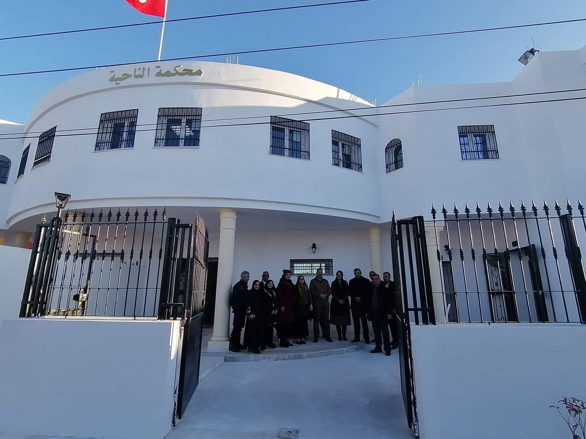 إستقبال محكمة الناحية بجرجيس للمتقاضين بمقرها الجديد: