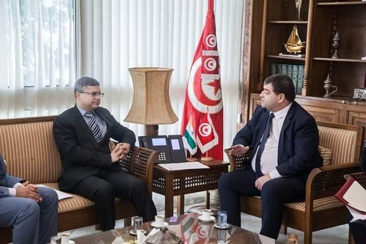 وزير السياحة يبحث مع سفير الهند بتونس أوجه التعاون المشتركة بين البلدين: