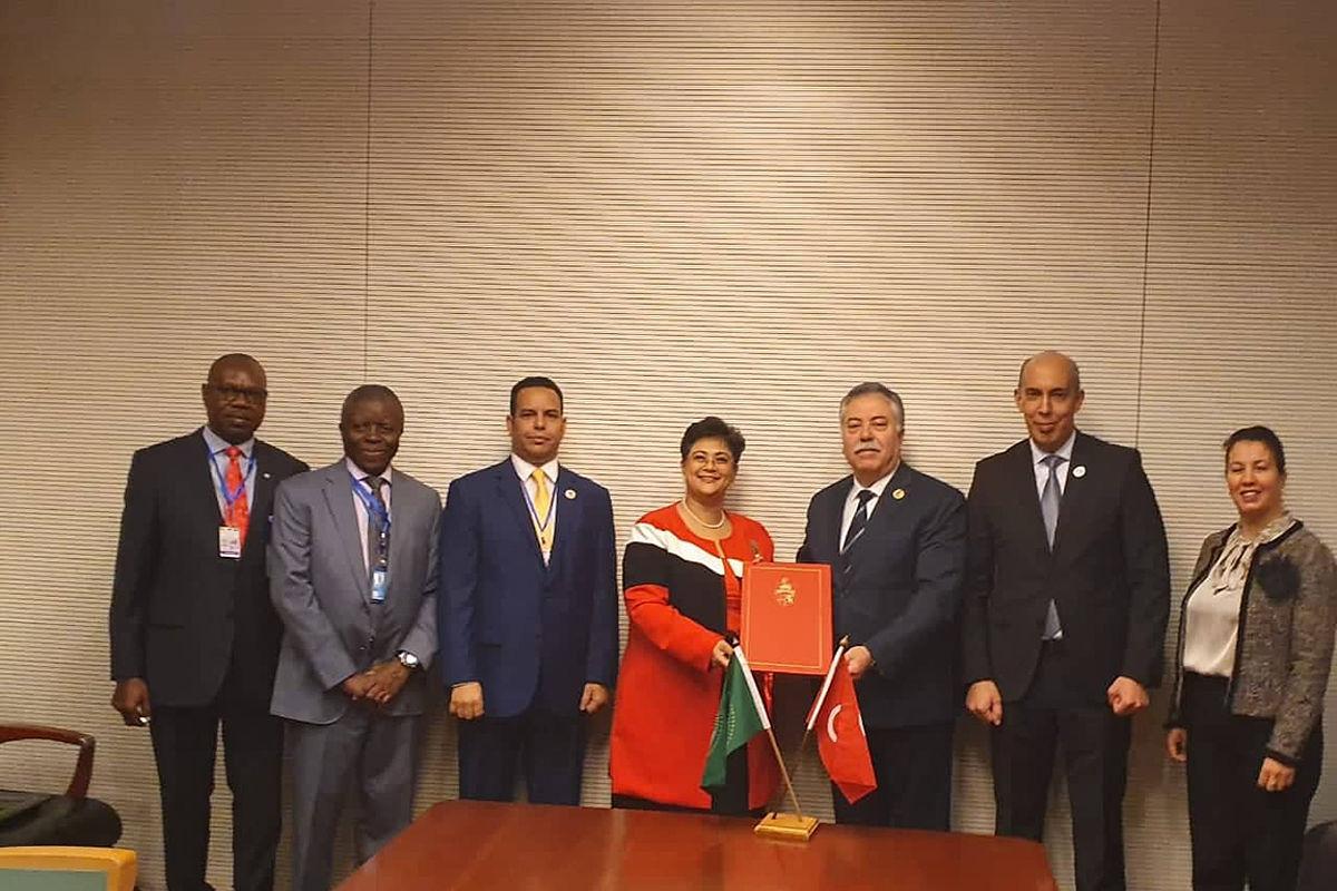 تسليم وثائق تصديق الجمهورية التونسية على اتفاقية الاتحاد الإفريقي لمنع الفساد: