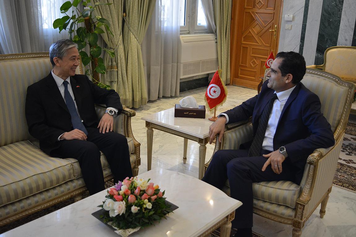 الـتأكيد على تطلع تونس لتعزيز التعاون مع الصين خلال لقاء وزير الخارجية مع السفير الصيني: