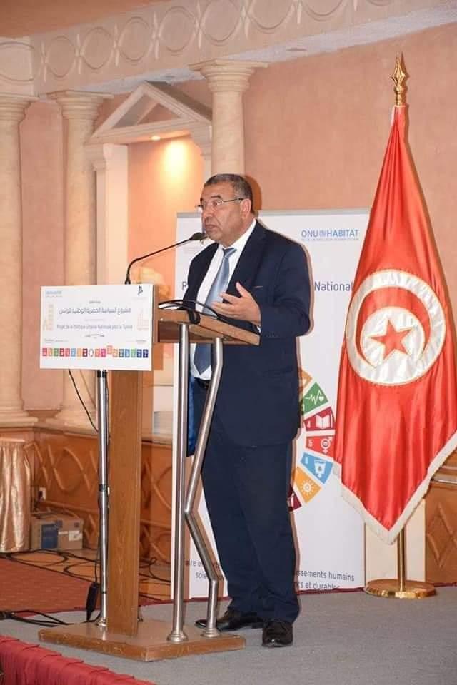 """وزير التجهيز و الإسكان يعلن عن إنطلاق مشروع""""السياسة الحضرية الوطنية لتونس"""":"""