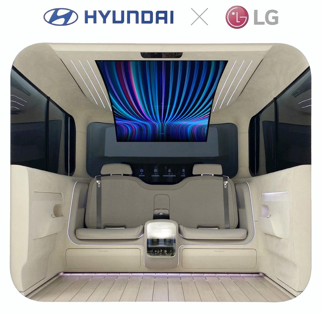 « ال جي » وهيونداي يتعاونان من أجل توفير الرفاهية في السيارات الكهربائية: