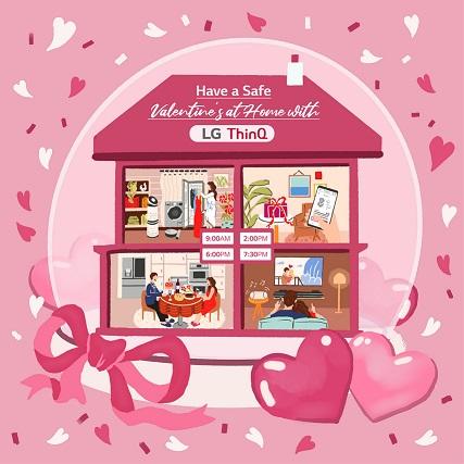 مع LG ThinQ  هكذا يمكن لكم الإستمتاع بعيد الحب  في المنزل بكل راحة وأمان: