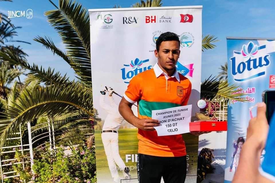 نهائي بطولة تونس للقولف للشبان بجربة:بلحاج ناصر والجزيري فوق منصة التتويج: